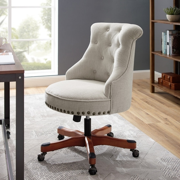 Linon Pamela Off-White Polyester Office Chair. Opens flyout.