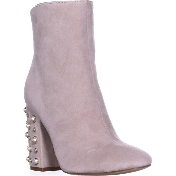 Ivanka Trump Telora Ankle Boots, Taupe Suede - 8 us