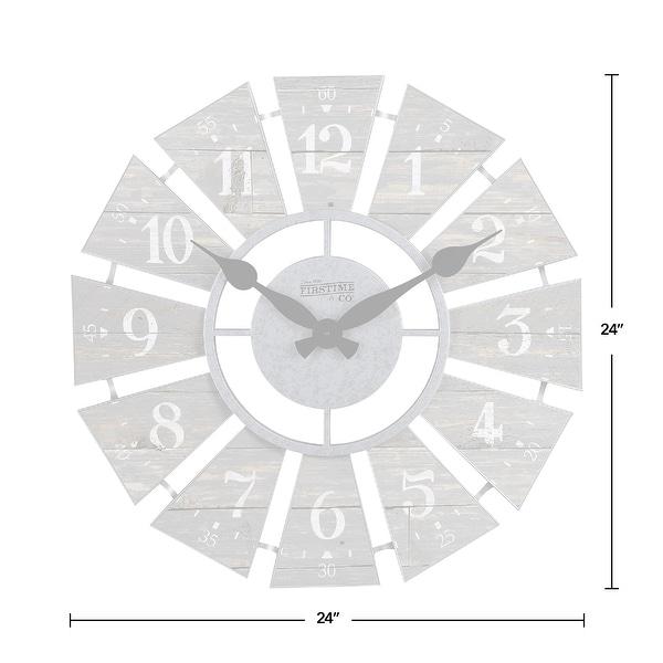FirsTime & Co. Numeral Farmhouse Windmill Clock, Plastic, 24 x 2 x 24 in, American Designed