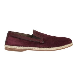 Dolce & Gabbana Dolce & Gabbana Bordeaux Suede Leather Logo Loafers