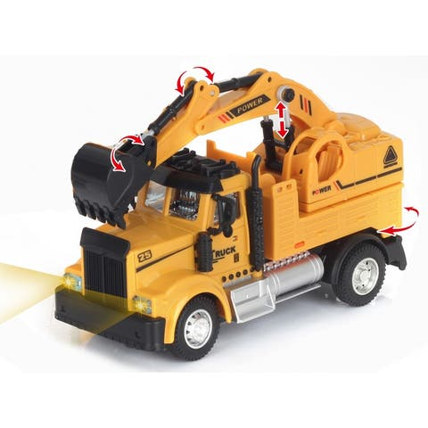 2.4G 1-64 scale RC Engineering Excavator Truck with lights and sound