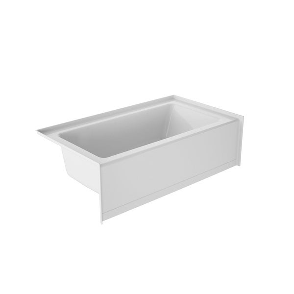 "Jacuzzi J1L6032BLXXXX Signature 60"" Three Wall Alcove Acrylic Soaking Tub with Left Drain and Overflow - White"