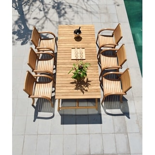 Link to Life Style Garden 7 Piece Teak Patio Dining Set - Brown Chairs Similar Items in Patio Furniture