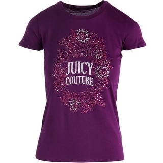 Juicy Couture Black Label Womens Broach Embellished Cotton T-Shirt - XS