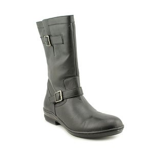David Tate Dorothy Women Round Toe Leather Mid Calf Boot