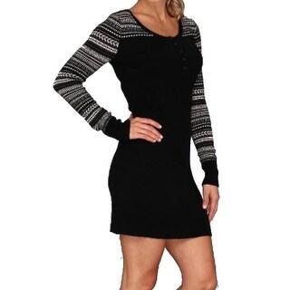 Patagonia NEW Black Women's Size XL Printed Sweater Dress Wool