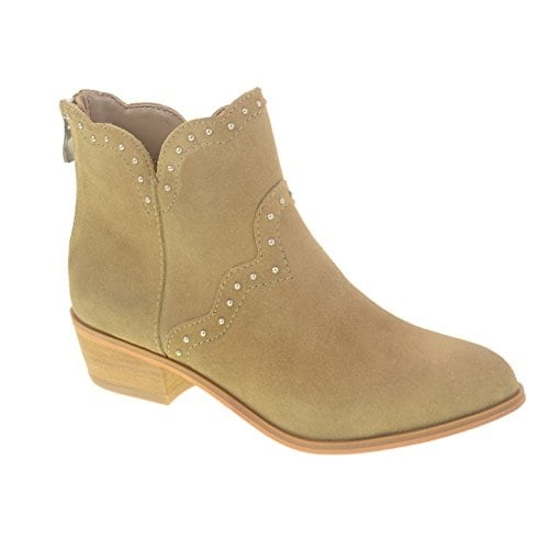Chinese Laundry Womens Saunter Leather Almond Toe Ankle Fashion Boots