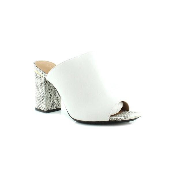 Calvin Klein Cice Women's Sandals & Flip Flops Platinum White