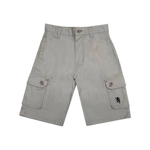 English Laundry Gray Multi Pockets Twill Cotton Cargo Shorts Big Boys