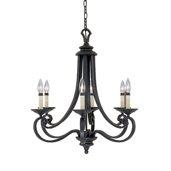 Designers Fountain 9036-NI 6-Light Chandelier from the Barcelona Collection - natural iron