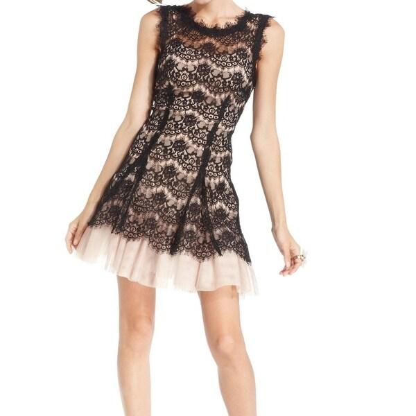 e45a363a Betsy & Adam NEW Black Illusion Lace Women's Size 10 Sheath