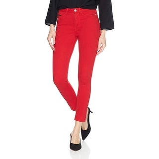 Calvin Klein Jeans Ladies High Rise Skinny Ankle Jeans Size 32 Tango Red