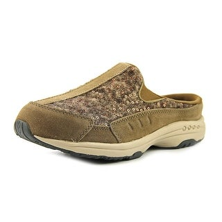 Easy Spirit Traveltime Women Round Toe Canvas Brown Mules