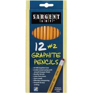 Yellow - Sargent Art #2 Graphite Pencils 12/Pkg
