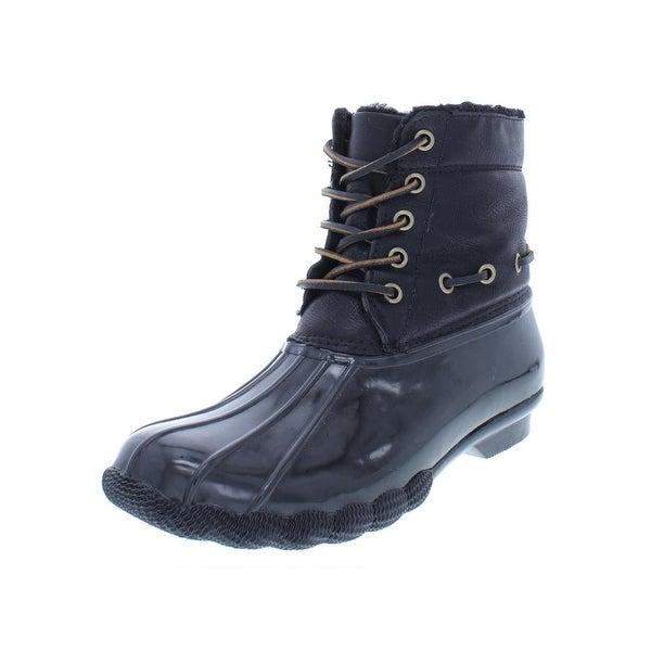 2957ef86e56 Shop Steve Madden Womens Torrent Rain Boots Ankle Water Resistant ...