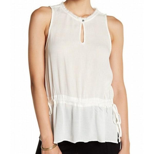 c8deda1de5b85 Shop Susina NEW White Ivory Lace-Trim Keyhole Women s Size XL Side ...