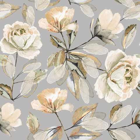Guineea Floral Removable Wallpaper - 10'ft H x 24''inch W