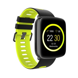 TechComm GV68 Smart Watch Bluetooth Waterproof IP68 Heart Rate Monitor (Option: Green)