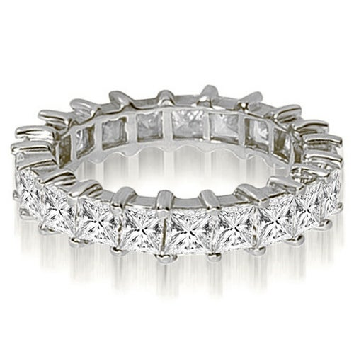 5.00 cttw. 14K White Gold Princess Shared-Prong Diamond Eternity Ring