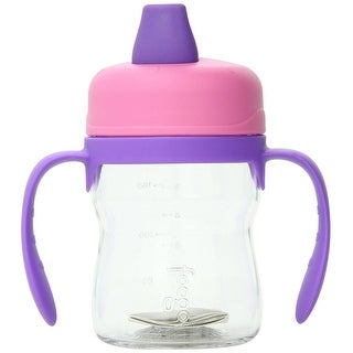 THERMOS FOOGO 8-Ounce Soft Spout Sippy Cup with Handles (Pink/Purple)