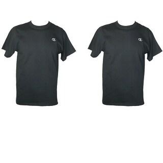 Champion Men's Cotton Short Sleeve Jersey Shirt (Pack of 2)