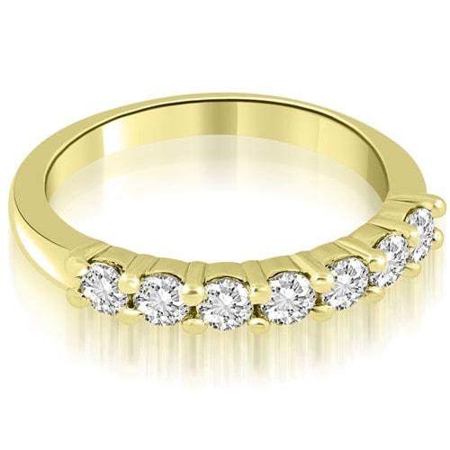 0.70 cttw. 14K Yellow Gold Classic Round Cut Diamond Wedding Band