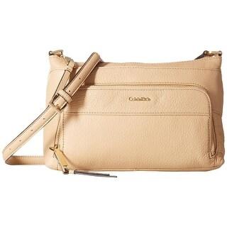 Calvin Klein Womens Kixbody Crossbody Handbag Leather Pebbled - MEDIUM