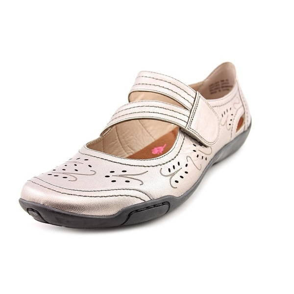 Ros Hommerson Chelsea Women Round Toe Leather Silver Mary Janes