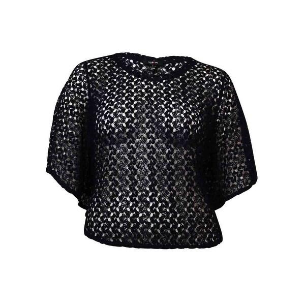 Style & Co Women's Elegant Crochet Poncho Blouse