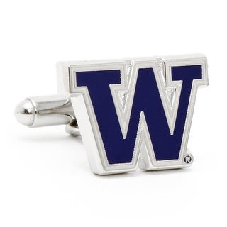 Silver Plated University of Washington Huskies Cufflinks