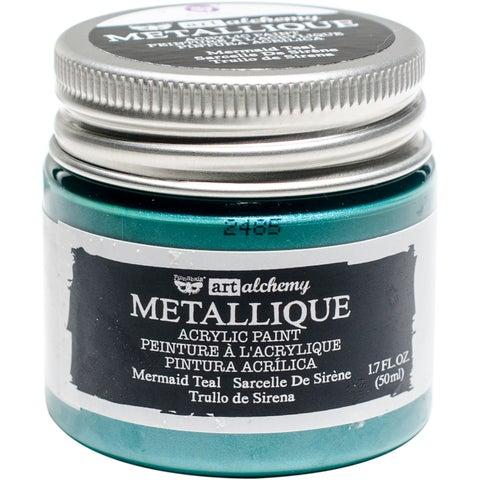 Finnabair Art Alchemy Acrylic Paint 1.7 Fluid Ounces-Metallique Mermaid Teal