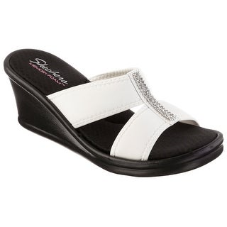 Skechers 38470 WHT Women's RUMBLERS-RISK TAKER Sandals