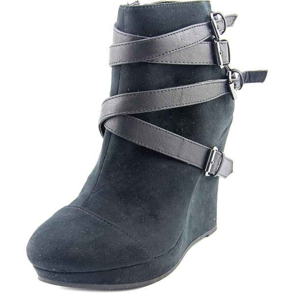 Famous Name Brand Valerie Women Round Toe Synthetic Bootie