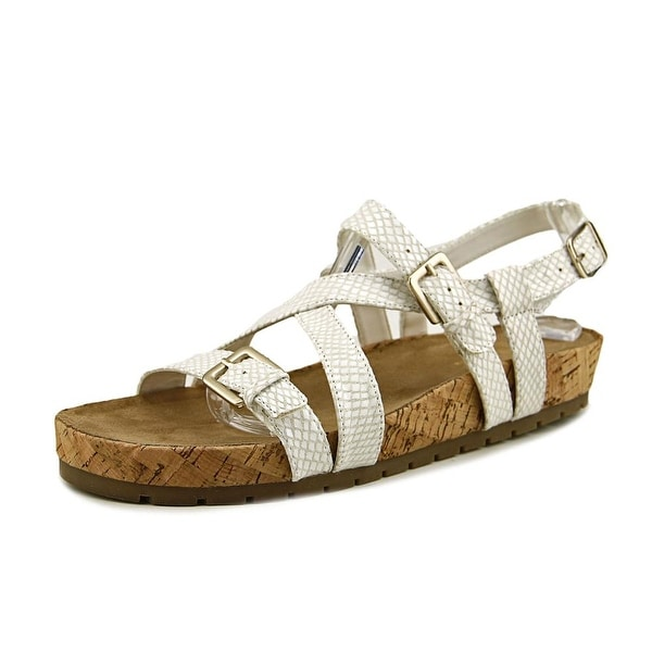 Aerosoles Compliment Women White Snake Sandals