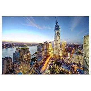 """World Trade Center, New York City"" Poster Print"