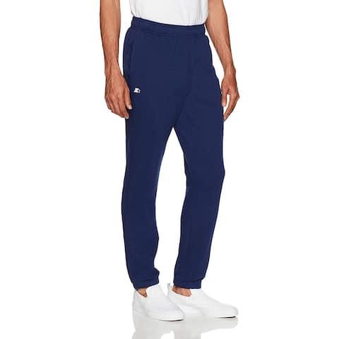 Starter Men's Elastic-Bottom Sweatpants with Pockets,, Team Navy, Size X-Large