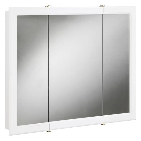 Design House 531434 30 Framed Triple Door Mirrored Medicine Cabinet From The Concord Collection