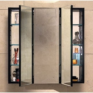 "Robern PLM3630E PL Series 30""H x 36""W x 4-5/8""D Triple Door Medicine Cabinet with Electrical Outlet"