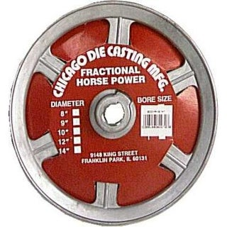 """Chicago Die Casting 800A7 Single V Grooved Pulley, 8"""" x 3/4"""""""