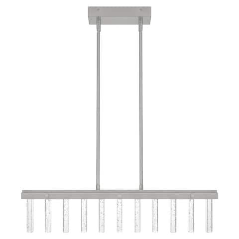 Nola Brushed Nickel Integrated LED Linear Island Light