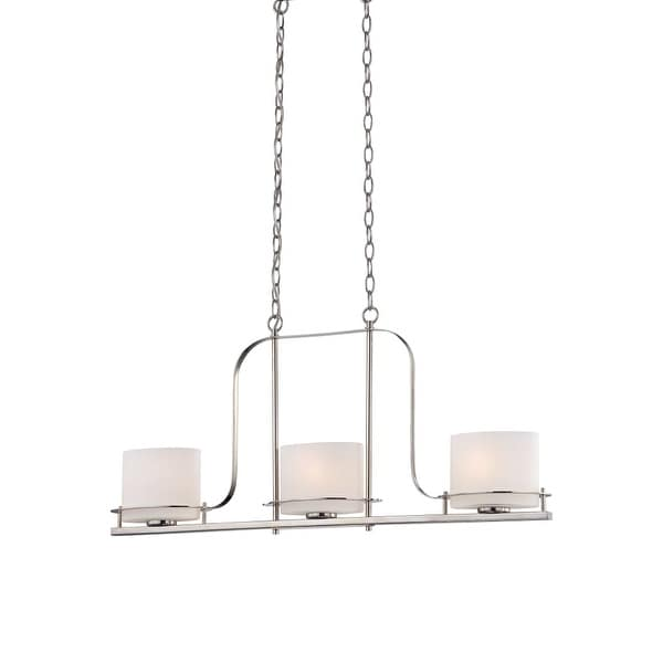 "Nuvo Lighting 60/5106 3 Light 36"" Wide Linear Chandelier - Polished Nickel"