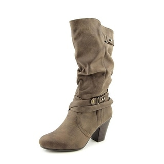 White Mountain Gusto   Round Toe Synthetic  Mid Calf Boot