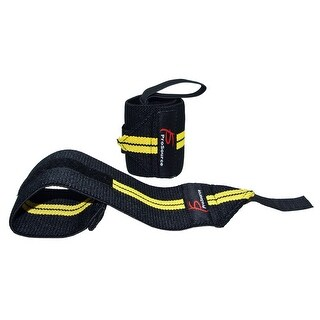 ProSource Barbell Kettlebell Weight Lifting Wrist Wrap Support with Thumb Loop