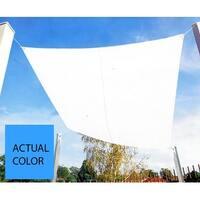 9.75' Bright Sky Blue Square Outdoor Patio Sun Shade Tarp