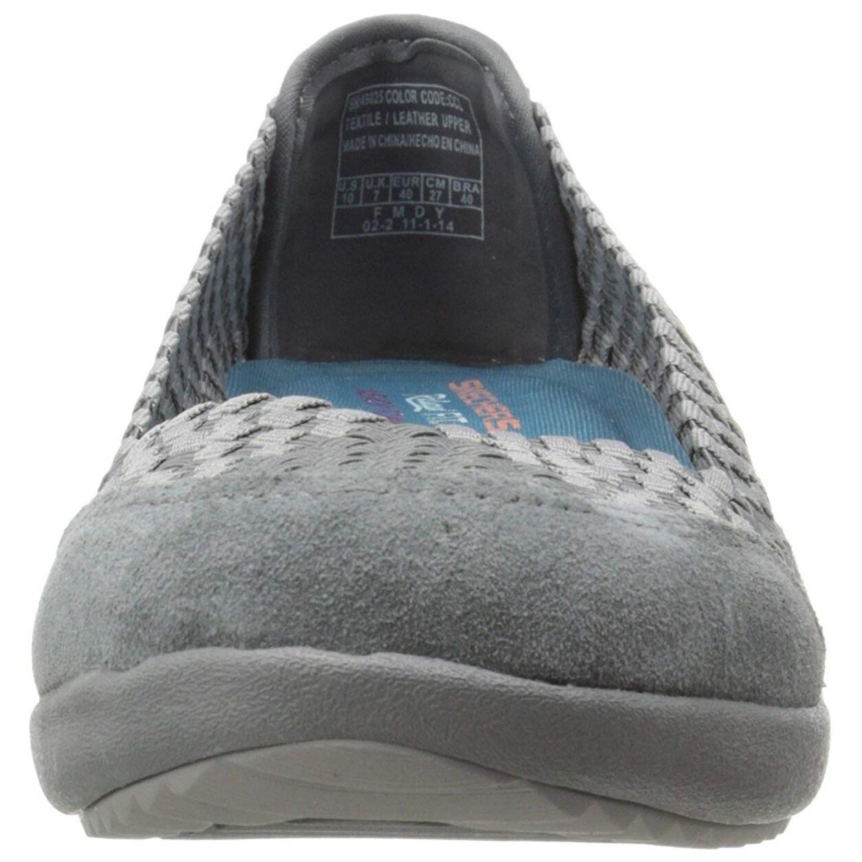Skechers Women's Savor Just Weave It Walking Shoe,Charcoal,9 M Us
