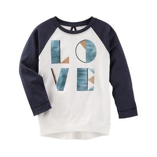OshKosh B'gosh Little Girls' TLC Love Raglan Tunic, 4 Kids