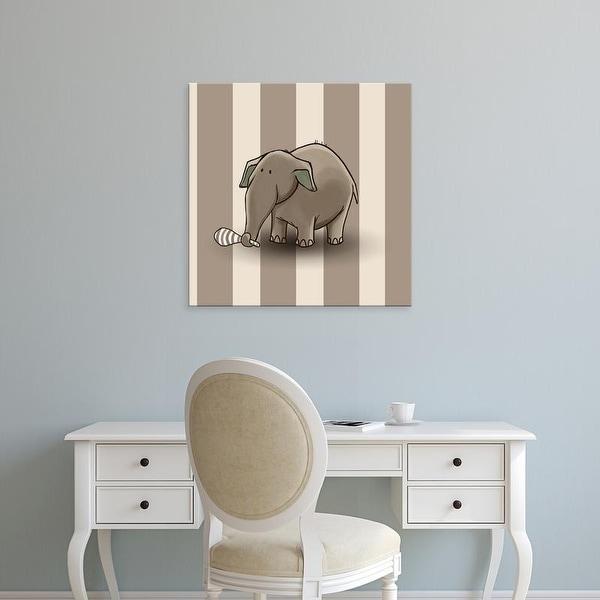 Easy Art Prints GraphINC's 'Elephant' Premium Canvas Art