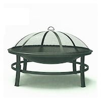 WAD15121A 29 in. Outdoor Round Fireplace Brushed Copper Finish