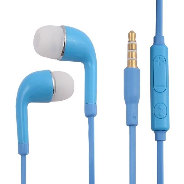 3.5mm Jack Stereo In-Ear Earphones Headphones Earbuds Blue for Smartphone