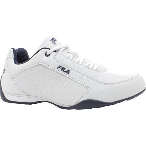 a39fe726f0 Shop Fila Men's Tiltshift Lace Up Shoe White/Fila Navy/Metallic ...